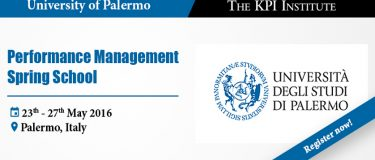 The KPI Institute's partnership with Palermo University at the Performance Management Spring School