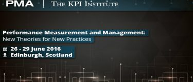 The KPI Institute at the 10th conference of the Performance Management Association