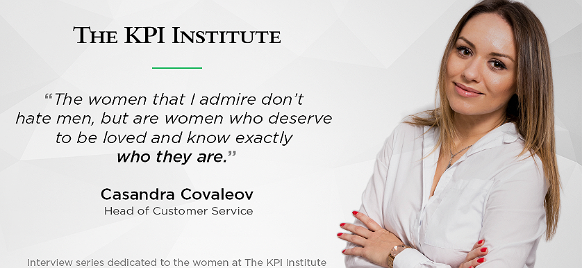 Women of The KPI Institute: Casandra Covaleov, Head of Customer Service