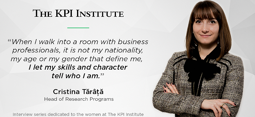 Women of The KPI Institute: Cristina Tărâță, Head of Research Programs