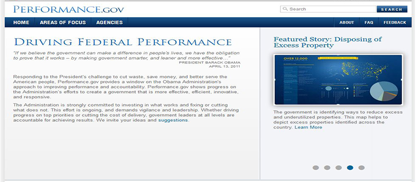 Legislation promoting performance management