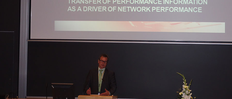 Harri Laihonen and Sanna Pekkola explain the Transfer of Performance Information as a Driver  of Network Performance, at the 2014 PMA Conference