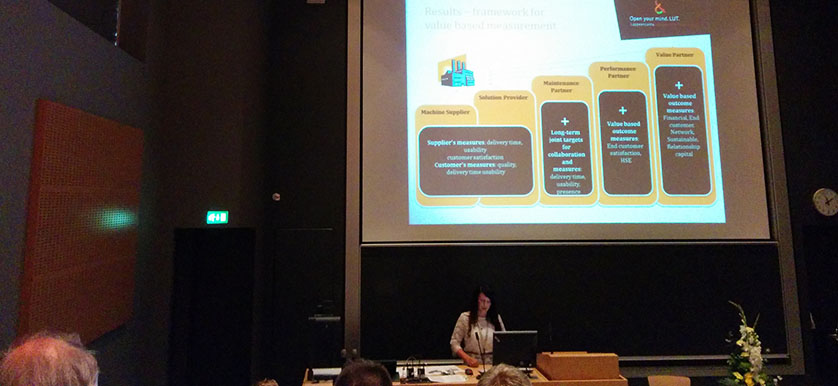 Discussing the Role of Performance Measurement in Developing Industrial Services with Sanna Pekkola, Minna Saunila, Tero Rantala and Juhani Ukko, at the 2014 PMA Conference