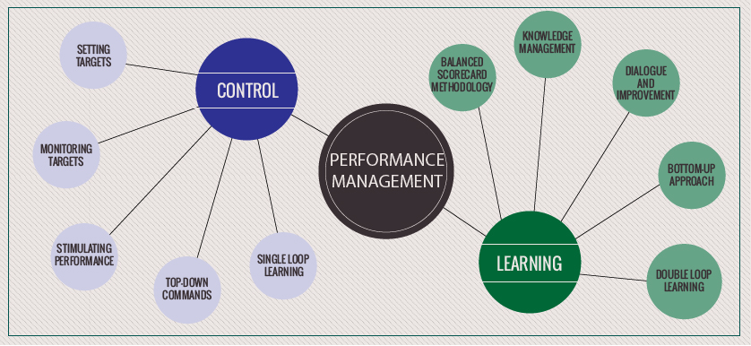 Learning vs Control in Performance Management