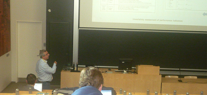 On uncertainty assessment with Marcello Cavallare, Sergio Sousa, Eusébio Nunes at the PMA 2014 Conference