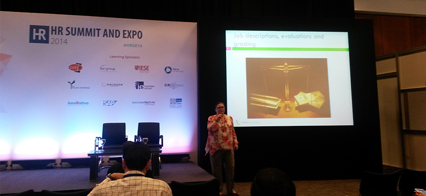 On compensation and benefits with Sandrine Bardot at the HR Summit and Expo 2014