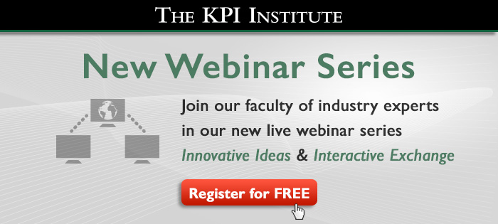 The KPI Institute launches a New Webinar Series