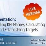 Free Webinar: KPI Documentation, July 23rd, 2013