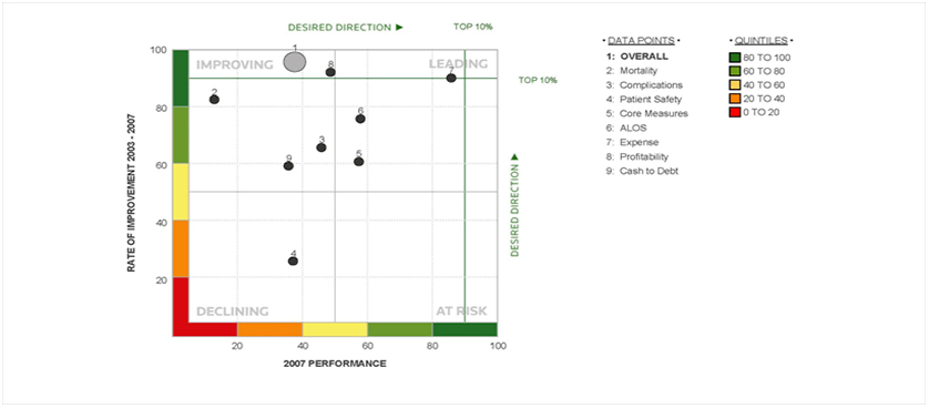 100 Top Hospitals Performance Matrix