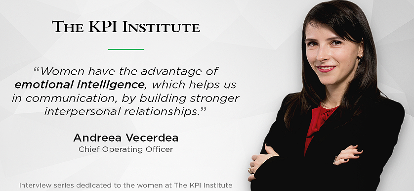 Women of The KPI Institute: Andreea Vecerdea, Chief Operating Officer
