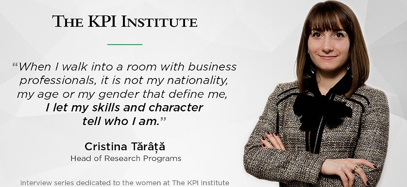 Women of The KPI Institute: Cristina Tărâță, Head of Research Programs