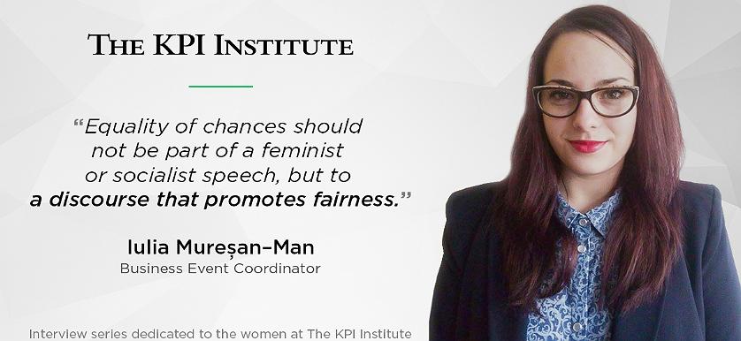 Women of The KPI Institute: Iulia Mureșan-Man, Business Event Coordinator