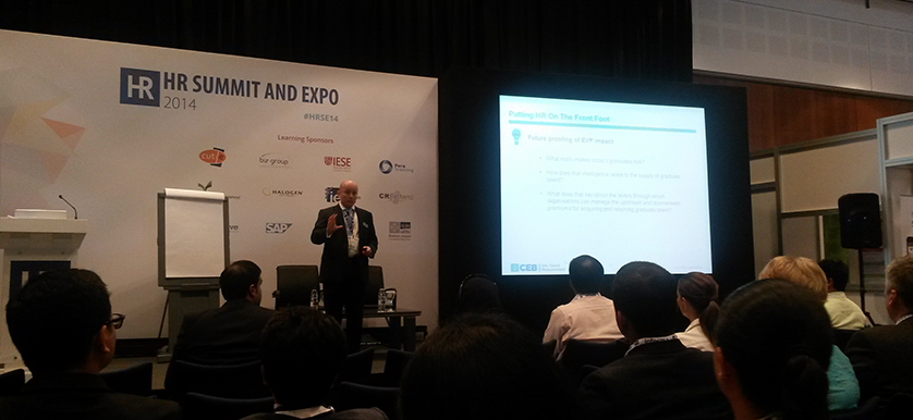 About graduate recruitment with David Edwards at HR Summit and Expo 2014