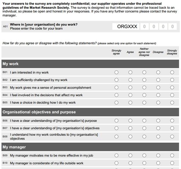 Employee Engagement Survey Template   Baskan.idai.co