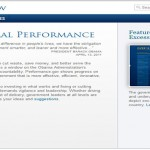 Government policy and legislation promoting performance management