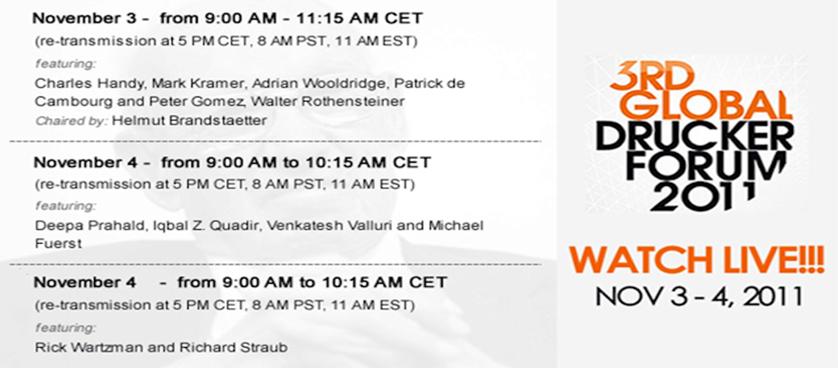 3rd Global Drucker Forum 2011 – live
